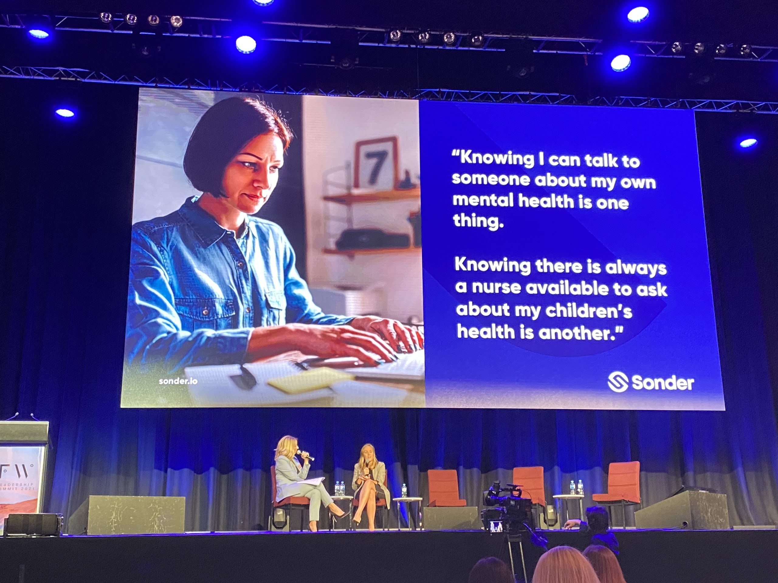 Sonder mental health discussion at Future women event